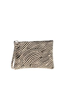 Gum Gianni Chiarini - Numers zebra print small clutch bag