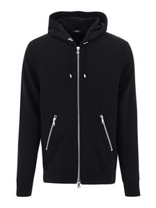 Balmain - Astronaut print cotton hoodie in black