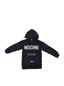 Moschino Kids - Hoodie in black with holographic logo