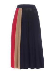 Tommy Icons - Icon Pleated long skirt in blue