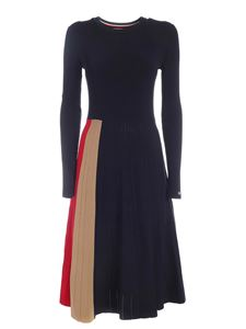 Tommy Icons - Icon Pleated dress in blue