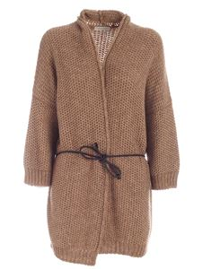 Le Tricot Perugia - Tricot-effect cardigan in camel color