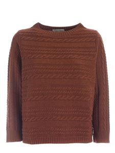 Le Tricot Perugia - Boxy fit pullover in brown
