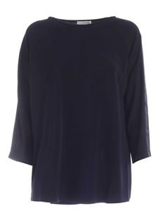 Le Tricot Perugia - Satin bands sweater in blue