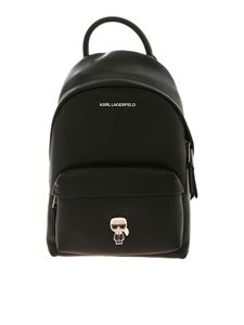 Karl Lagerfeld - K/Ikonik Metal Pin backpack in black