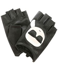 Karl Lagerfeld - K/Ikonik fingerless gloves in black