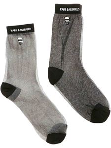 Karl Lagerfeld - K/Ikonik socks in black and silver