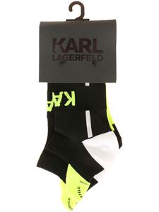 Karl Lagerfeld - Rsg 2Pak socks in black and yellow