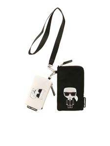 Karl Lagerfeld - K/Ikonik double Pouch bag in black and white