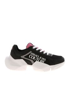 Versace Jeans Couture - Logo prints sneakers in black and pink