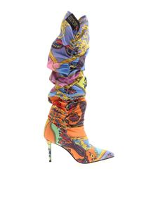 Versace Jeans Couture - Multicolor Paisley Fantasy pointed boots
