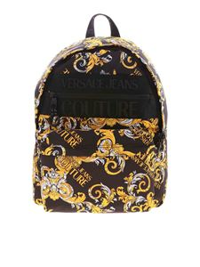 Versace Jeans Couture - Logo Baroque print backpack in black