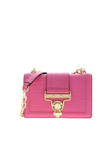 Versace Jeans Couture - Crocodile print shoulder bag in fuchsia