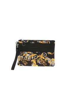 Versace Jeans Couture - Logo Baroque print clutch bag in black