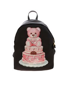 Moschino - Cake Teddy Bear logo print backpack in black