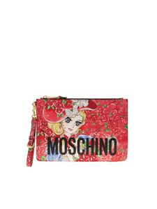 Moschino - Marie Antoinette anime clutch in red