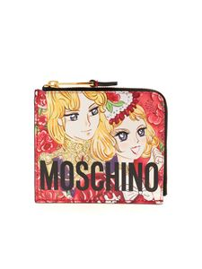 Moschino - Marie Antoinette anime wallet in red