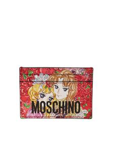 Moschino - Marie Antoinette anime card holder in red