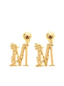 Moschino - Gold-colored M logo earrings
