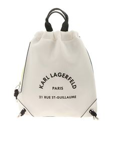 Karl Lagerfeld - Rue St Guillaume backpack in white and green
