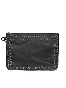Jimmy Choo - Derek star stud embellished clutch in black