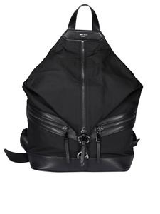 Jimmy Choo - Fitzroy nylon and leather backpack in black