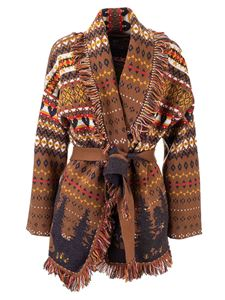 Alanui - Forrest Knit Wrap cardigan in brown