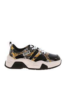 Versace Jeans Couture - Logo Baroque print sneakers in black
