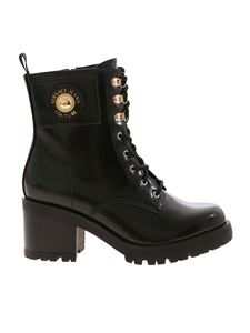 Versace Jeans Couture - Black ankle boots with logo