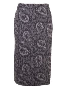 Fendi - Paisley pattern skirt in grey