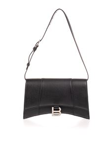 Balenciaga - Hourglass bag in black grained leather