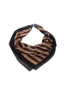 Fendi - Pequin scarf in black and brown