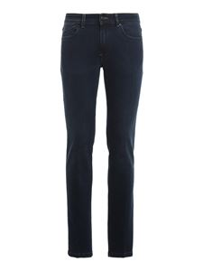 Hogan - Denim straight leg jeans in blue