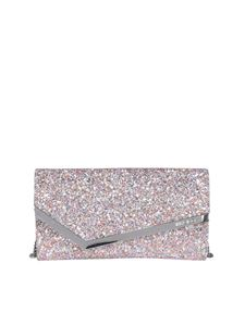 Jimmy Choo - Emmie glitter clutch in multicolor