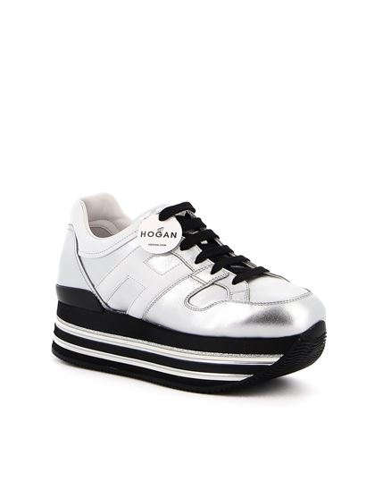 Hogan Fall Winter 20/21 maxi platform h222 leather sneakers in ...