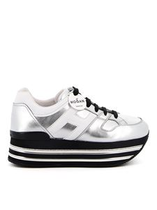 Hogan - Maxi Platform H222 leather sneakers in silver color