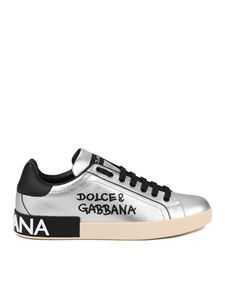 Dolce & Gabbana - Portofino sneakers in silver color