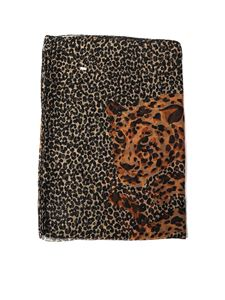Saint Laurent - Silk leopard-print stole