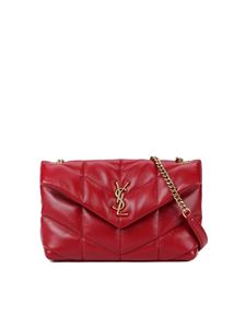 Saint Laurent - Loulou Puffer Mini shoulder bag in red