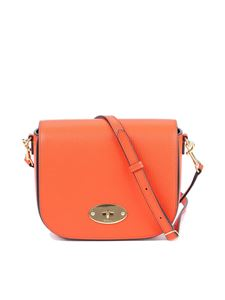 Mulberry - Darley grain leather small bag in orange color