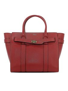 Mulberry - Bayswater small leather tote in red