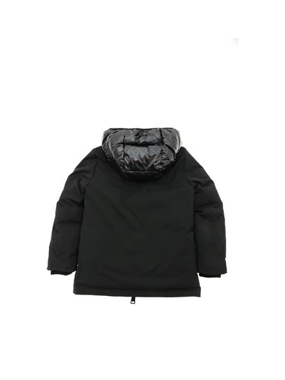 Herno - Glossy hood down jacket in black