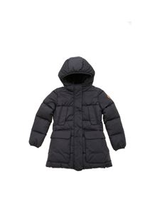 Save the duck - Black down jacket featuring faux fur interior