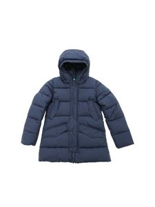 Save the duck - Blue down jacket featuring hood