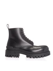 Balenciaga - Strike lace-up boots in black