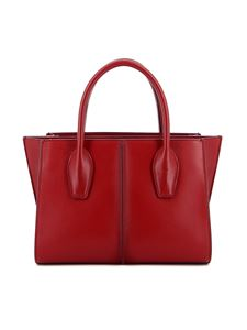 Tod's - Shopper Lee piccola in pelle rossa