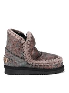 Mou - Eskimo 18 sequined ankle boots in metallic color
