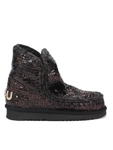 Mou - Eskimo 18 sequined ankle boots in black