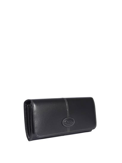 Tod's - Embossed logo wallet in black