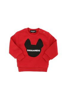 Dsquared2 - Contrasting logo print sweatshirt in red